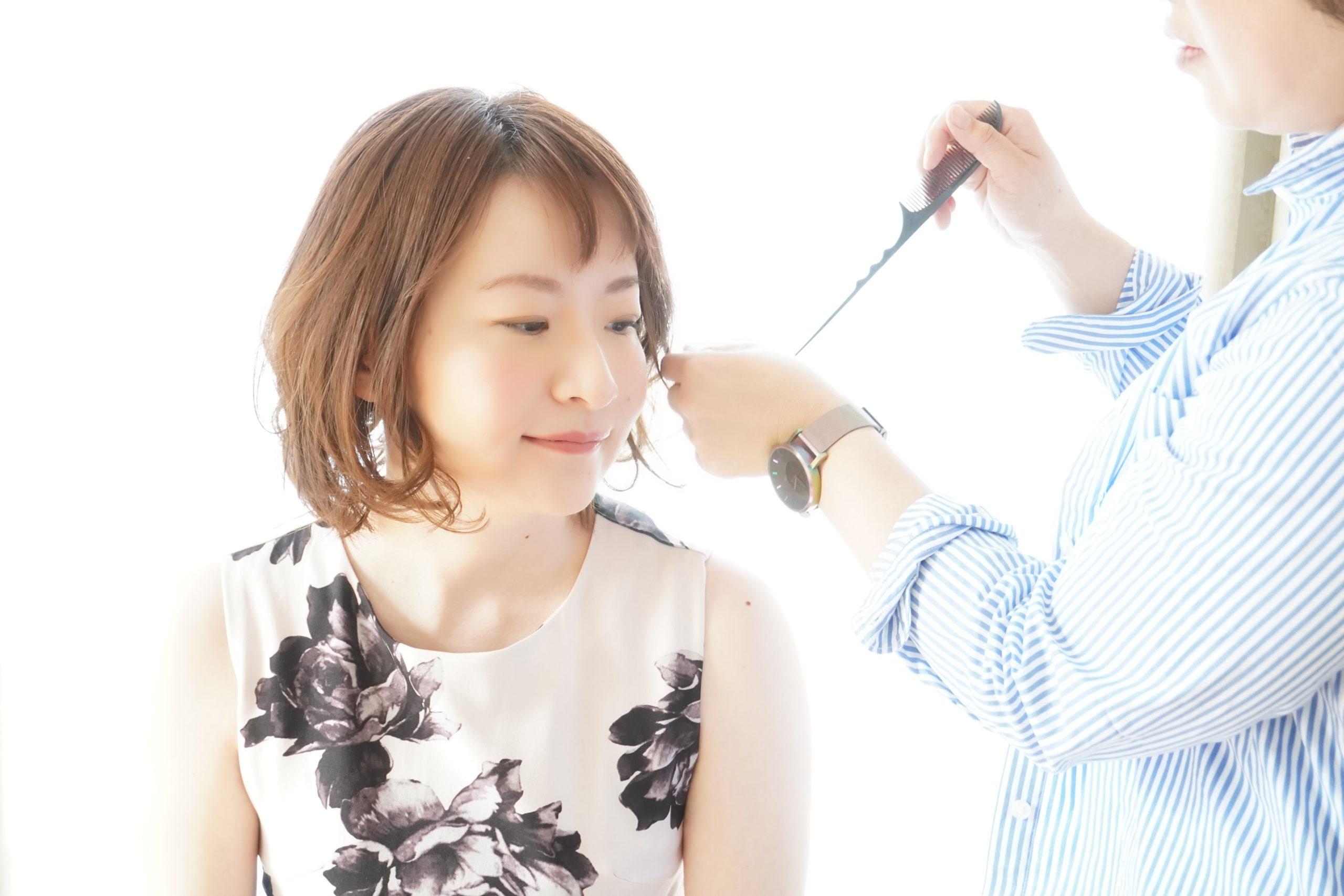 札幌衣装ヘアメイク付きプロフィール撮影の様子